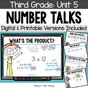 Number Talks / Math Talks ~ January of Third Grade ~ Commo