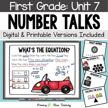 Number Talks - March of First Grade -Common Core Aligned