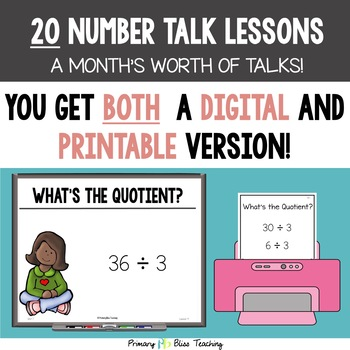 Number Talks / Math Talks ~ March of Third Grade ~ Common Core Aligned