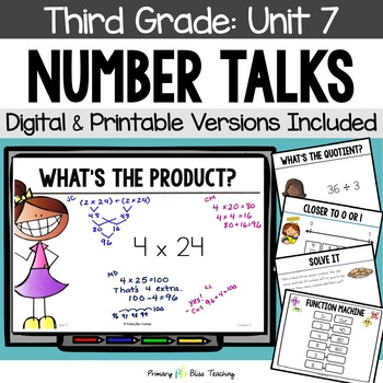 Third Grade Number Talks ~ Unit 7  (March)