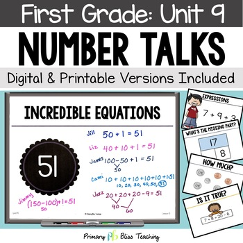 Number Talks ~ May of First Grade ~ Common Core Aligned