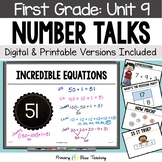 First Grade Paperless Number Talks - Unit 9  (DIGITAL and Printable)