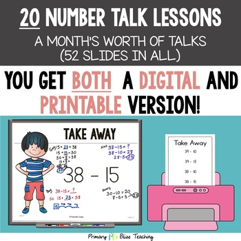Number Talks / Math Talks ~ May of Second Grade ~ Common Core Aligned