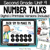 Second Grade Paperless Number Talks - Unit 9 (DIGITAL and Printable)