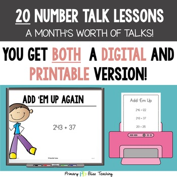 Number Talks / Math Talks ~ October of Fourth Grade ~ Common Core Aligned
