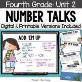 Fourth Grade Number Talks Unit 2 for Classroom and DISTANCE LEARNING