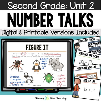 Number Talks / Math Talks October of Second Grade ~ Common Core Aligned