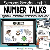 Second Grade Number Talks Unit 2 for Classroom and DISTANCE LEARNING