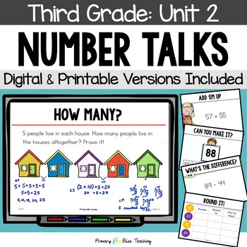 Number Talks / Math Talks ~ October of Third Grade ~ Common Core Aligned