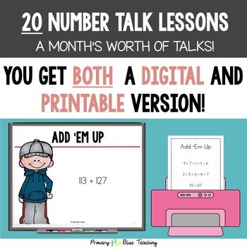 Number Talks ~ September of Fourth Grade ~ Common Core Aligned