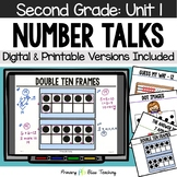 Second Grade Paperless Number Talks - Unit 1 (DIGITAL and Printable)