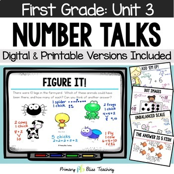Number Talks - November of First Grade - Common Core Aligned
