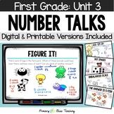 First Grade Number Talks - Unit 3 (November) DIGITAL and Printable