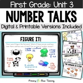 First Grade Paperless Number Talks - Unit 3 (DIGITAL and Printable)