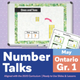 Number Talks May Pack – Ontario Grade 1 | For In-Class & Distance Learning