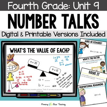 Number Talks - May of Fourth Grade - Common Core Aligned