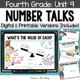 Fourth Grade Paperless Number Talks - Unit 9 (DIGITAL and Printable)