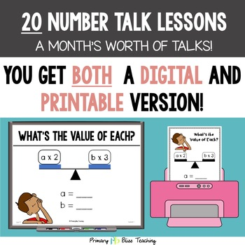 Number Talks - May of Third Grade- Common Core Aligned