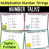 Number Talks - Multiplication Number Strings - Upper Elementary