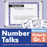 Number Talks November Pack – Ontario Grade 1 | For In-Class & Distance Learning
