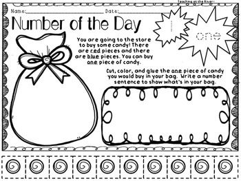 Number Talks -Number of the Day- Resources - 1-10 For Primary Grades