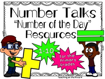 Number Talks -Number of the Day- Resources - 1-10 For Prim