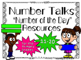 Number Talks -Number of the Day- Resources - 11-20 For Primary Grades