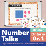 Number Talks October Pack – Ontario Grade 1 | For In-Class