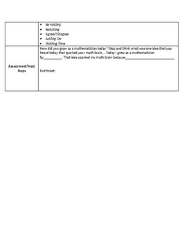 Number Talks Planning Sheet
