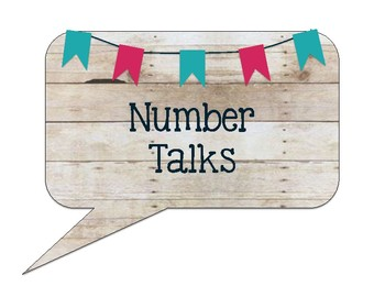 Number Talks Posters