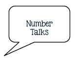 Number Talks Posters-Black & White