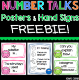 Number Talks Posters - Hand Signs and Sentence Stems