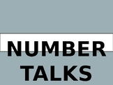 Number Talks Problems in a PowerPoint (EDITABLE)