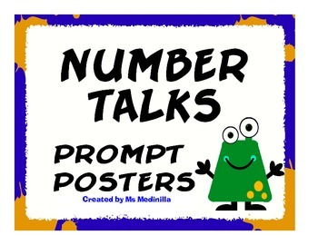Number Talks Prompt Posters for Male Teachers CCSS.MATH.PRACTICE.MP3