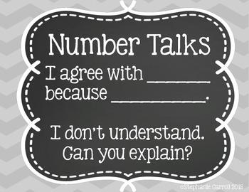 Number Talks Prompts