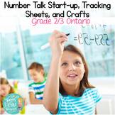 Number Talks Resources & Craftivities