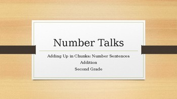 Number Talks: Second Grade - Adding Up in Chunks