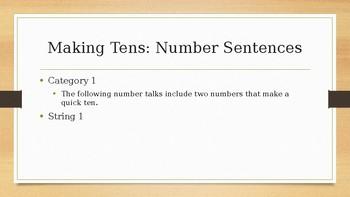 Number Talks: Second Grade - Making Tens