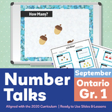Number Talks September Pack – Ontario Grade 1 | For In-Class & Distance Learning