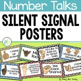 Number Talks - Silent Hand Signal Posters