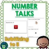 Number Talks - Subitizing to 5