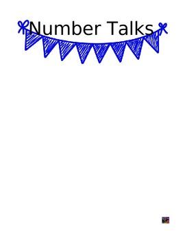 Number Talks Teacher Data Pack