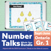 Number Talks Whole Year Bundle - Ontario Gr 1 | For In-Class & Distance Learning