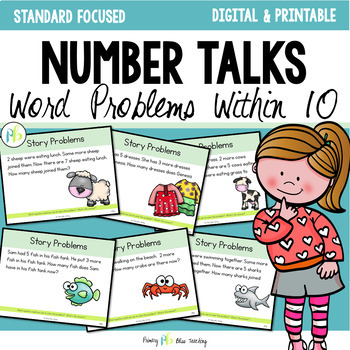 Number Talks - Word Problems {Addition and Subtraction within 10}