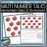 Number Talks Printable Pages to Practice Number Sense Dist
