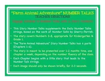 "Number Talks with ""Farm Animal Adventure"" Story Context (Kinder & 1st)"
