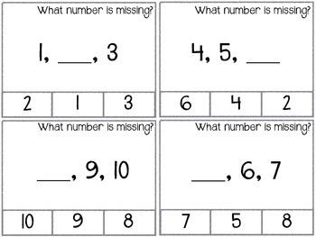 Number Task Cards 0-20
