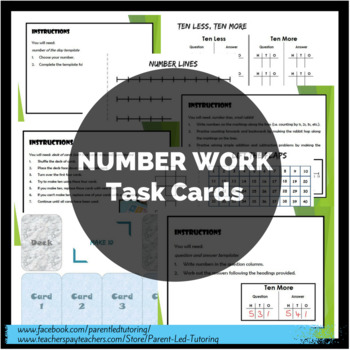 Number - Task Cards, Templates, Activities
