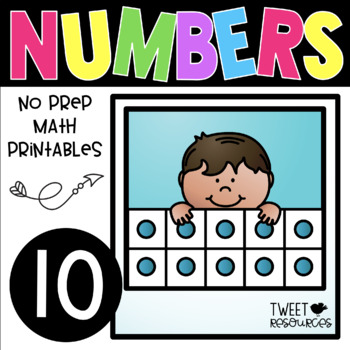 All About the NUMBER TEN ~ NO PREP Kindergarten Math Printables | TpT