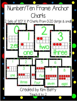 Number - Ten Frame Anchor Charts